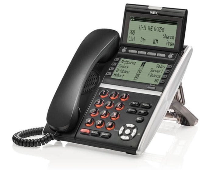 Pyer Phone Systems Melbourne - NEC DT800 IP Phones - NEC SV9100 Model DT830DG Handset