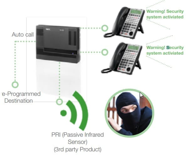 Pyer Phone Systems Melbourne - NEC - SL1100 PBX System + Feature and interface to alarm