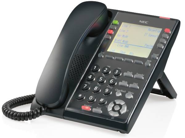 Pyer Phone Systems Melbourne - NEC SL2100 Digital 8 Button - Self Labeling handset